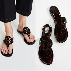 NEW! Tory Burch Miller Patent Leather Sandal